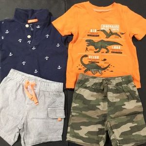 2 toddler boys size 18m short and t-shirt bundle